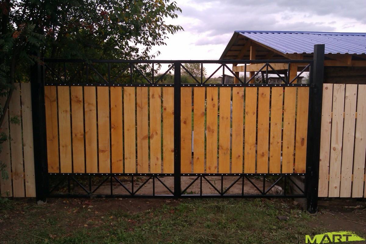 Ворота для дачи своими руками фото 33