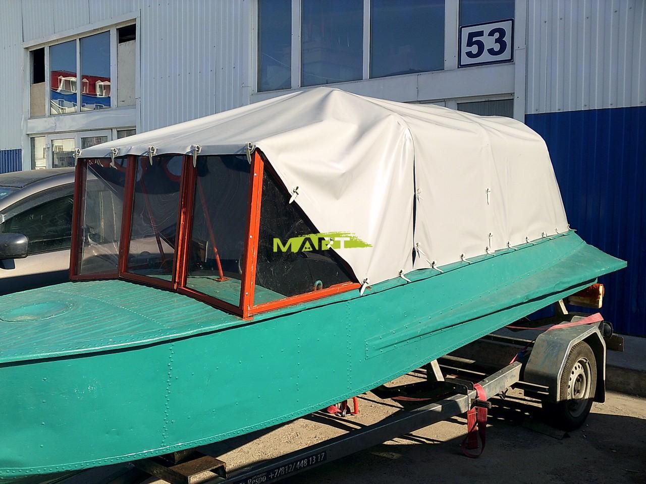Как сделать тент к моторным лодкам